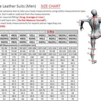 Motorcycle Suit Size Chart